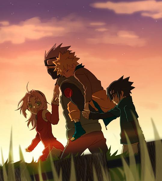 Naruto-kids-kakashi-sakura-sasuke